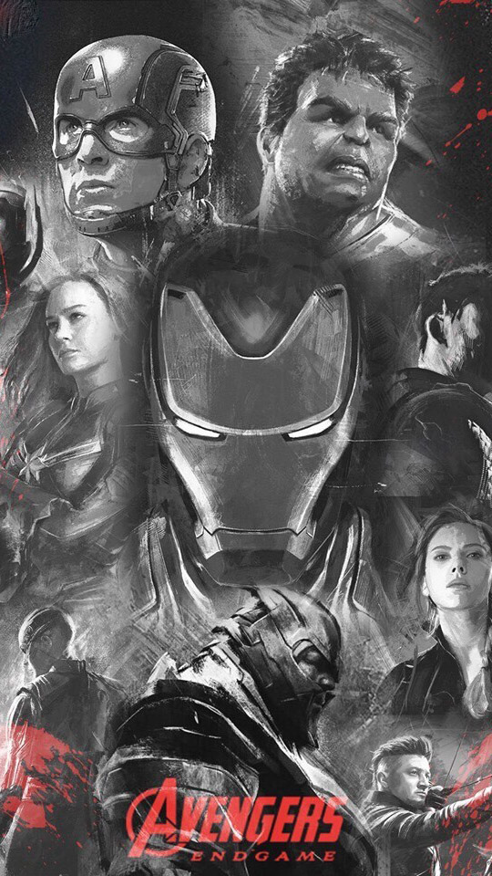 The Avengers Art Poster iPhone Wallpaper