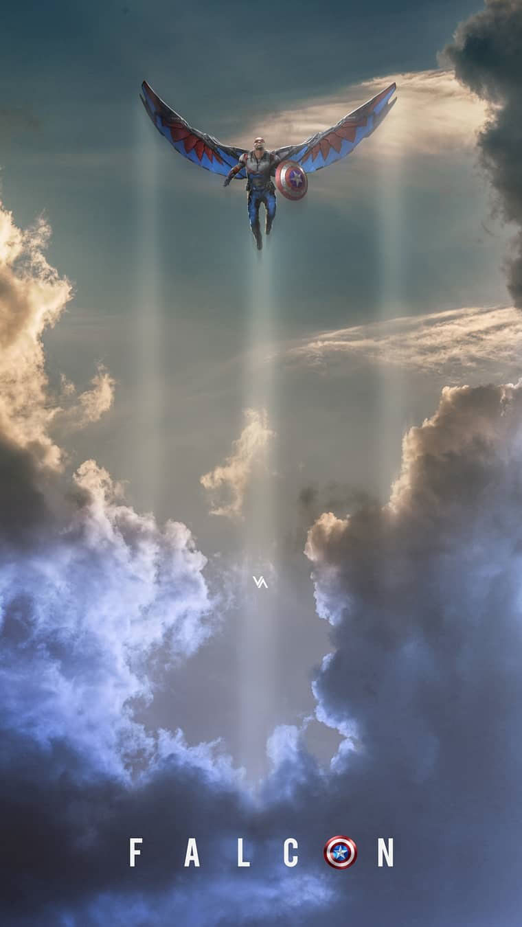 The Falcon New Captain America iPhone Wallpaper