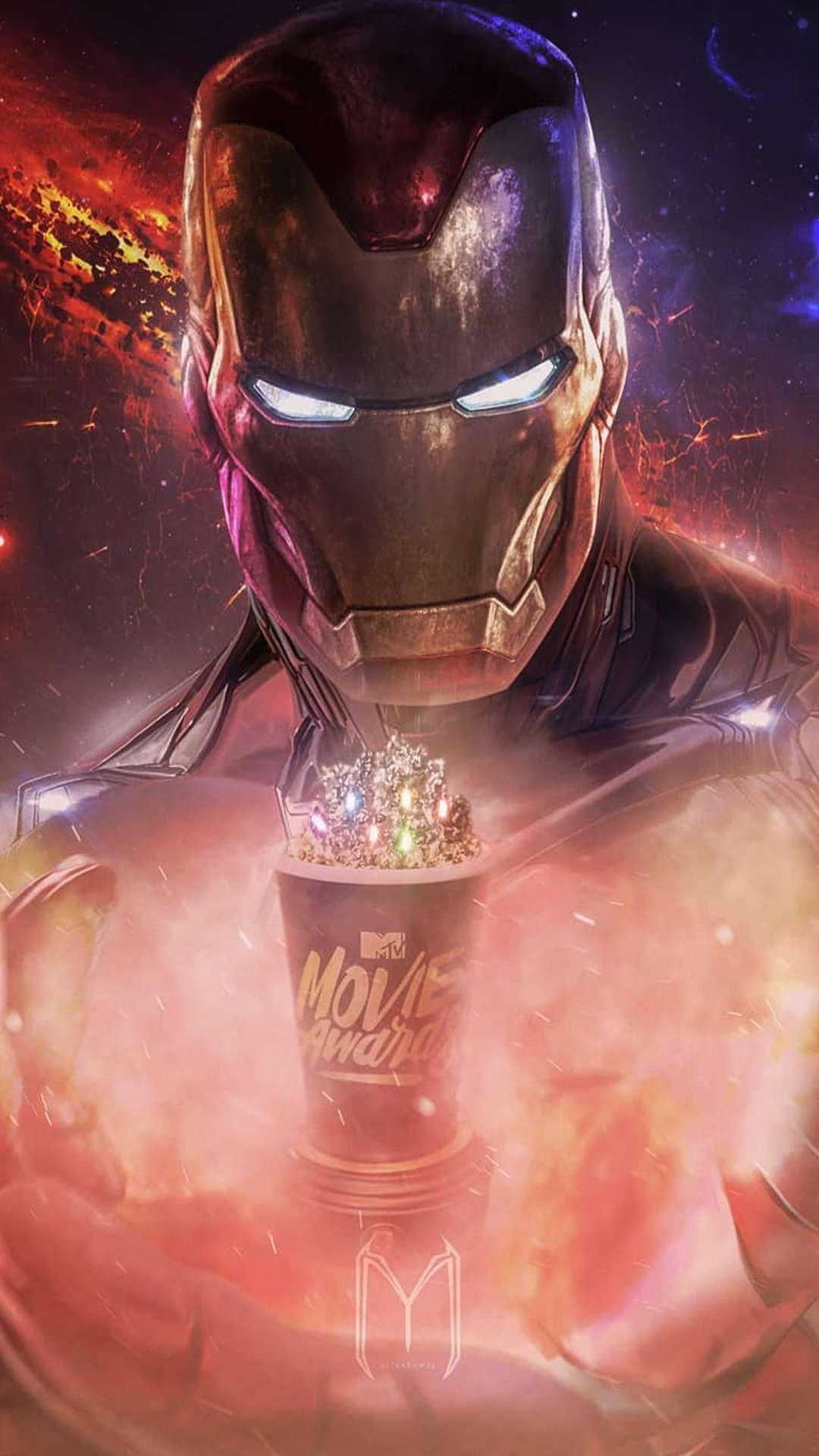 The Iron Man Mark 85 iPhone Wallpaper