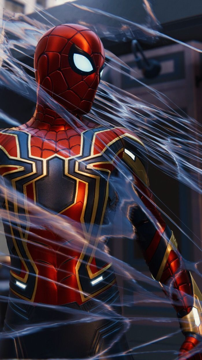 The Iron Spider iPhone Wallpaper 1