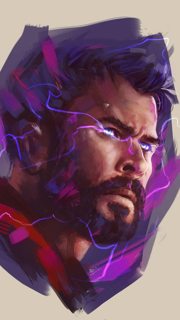Thor Art iPhone Wallpaper