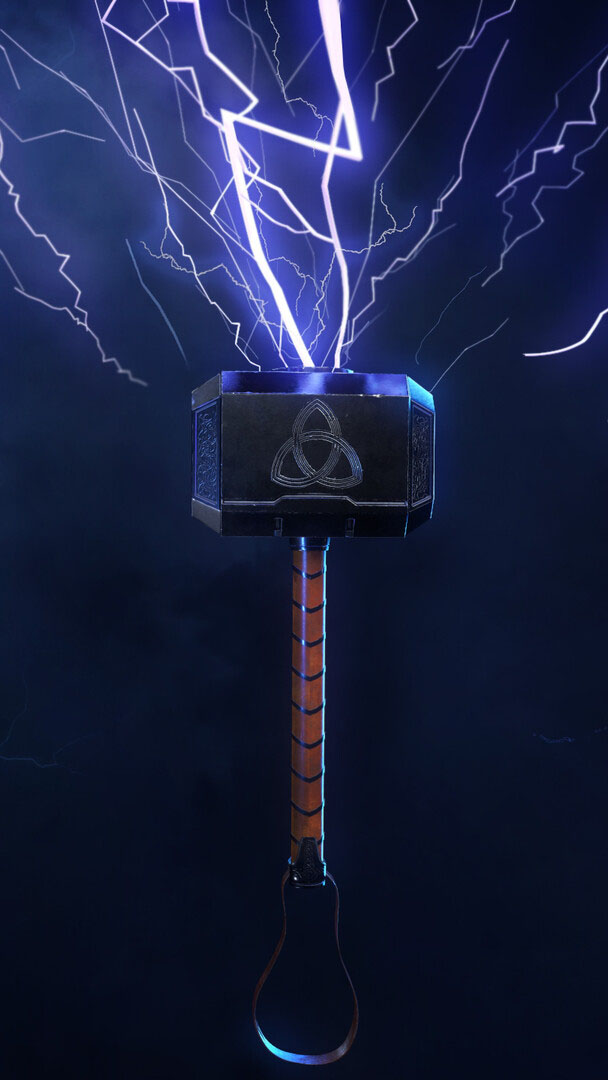 Thor Mjolnir iPhone Wallpaper
