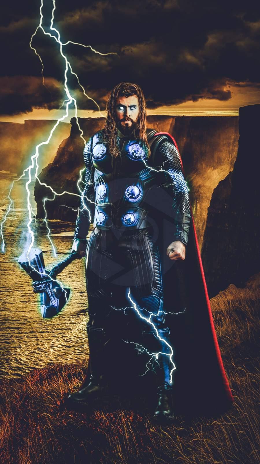 Thor Stormebreaker Endgame iPhone Wallpaper