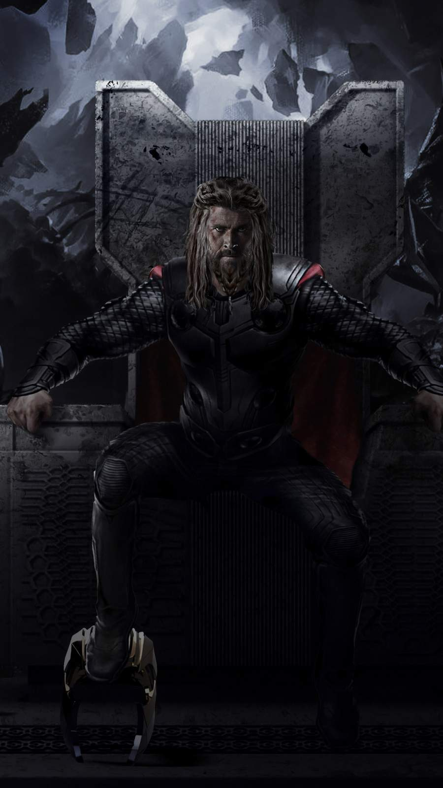 Thor Throne iPhone Wallpaper