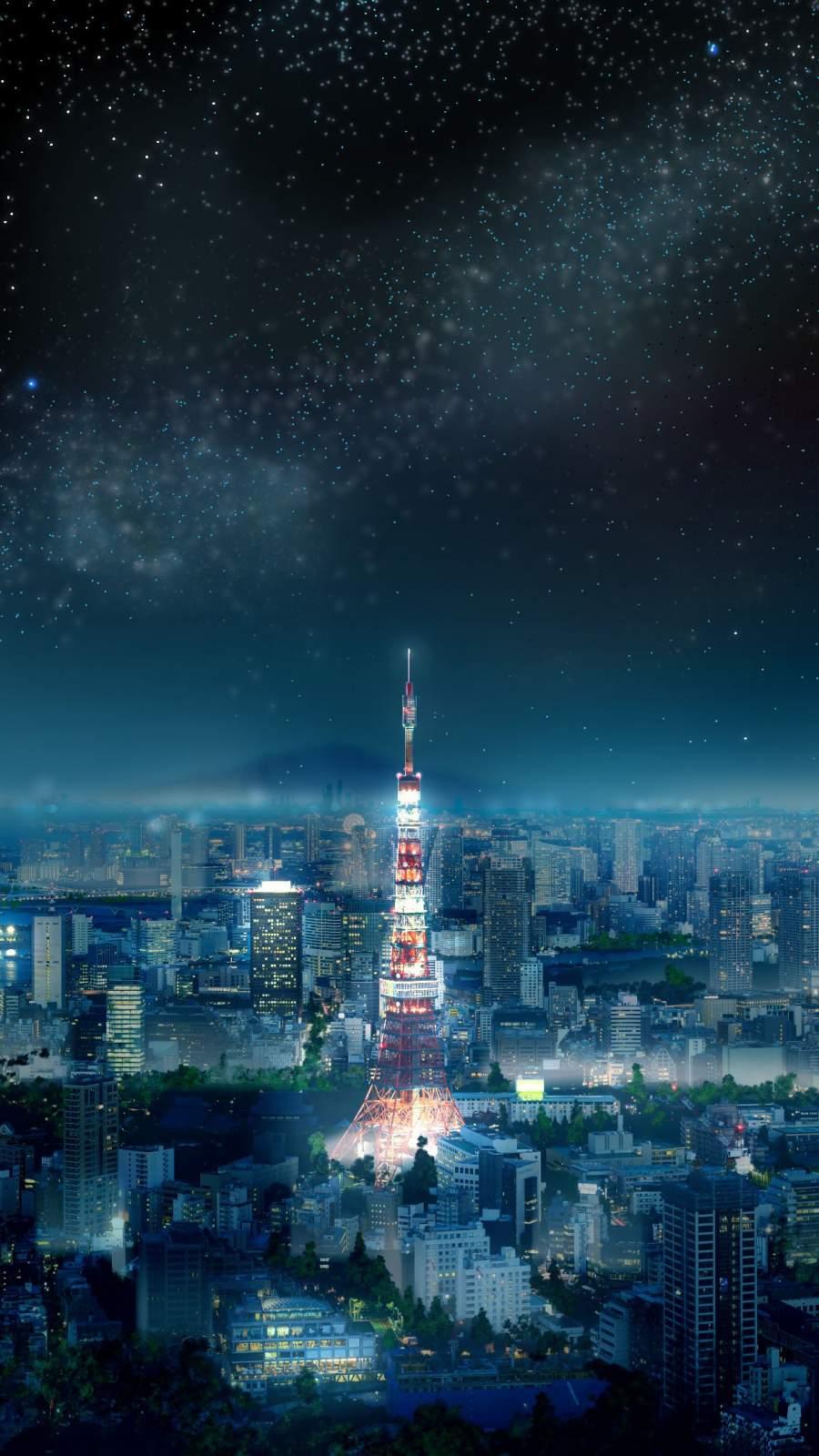 Tokyo Tower Japan iPhone Wallpaper