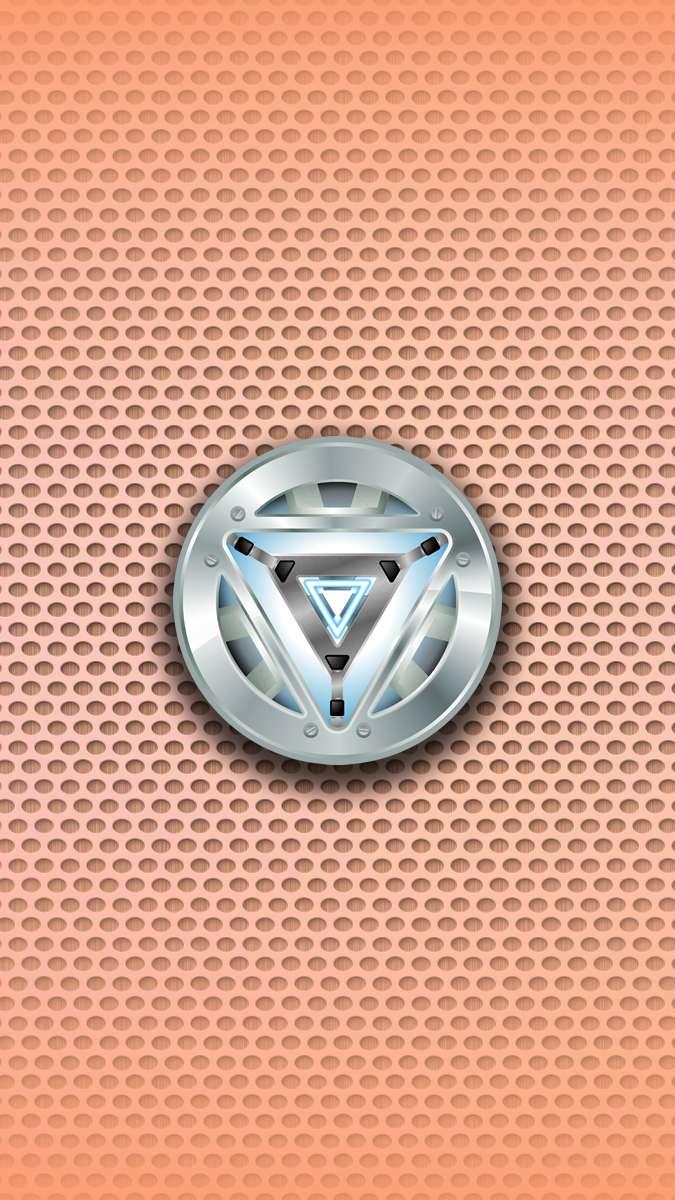Tony Stark Arc Reactor iPhone Wallpaper