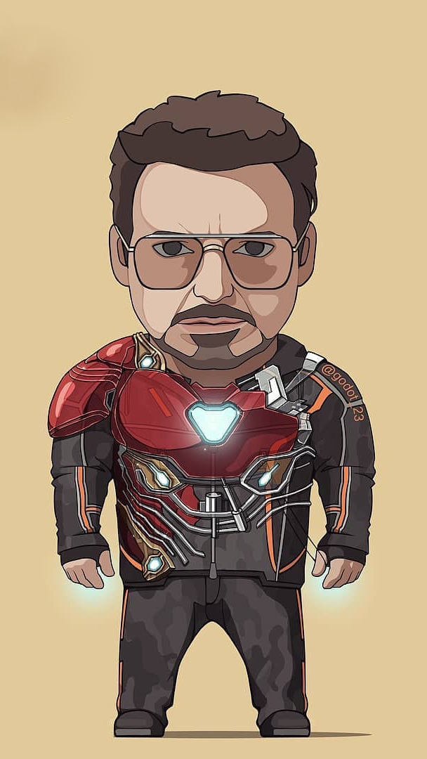 Tony Stark Nano Technology Armor iPhone Wallpaper