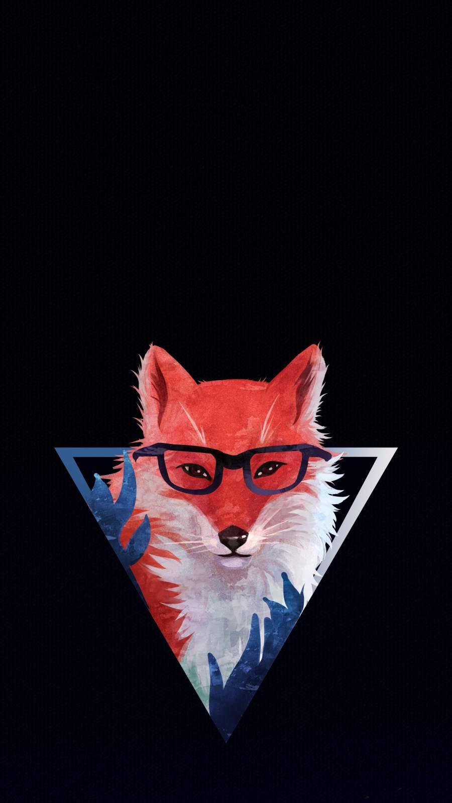 Triangle Fox iPhone Wallpaper