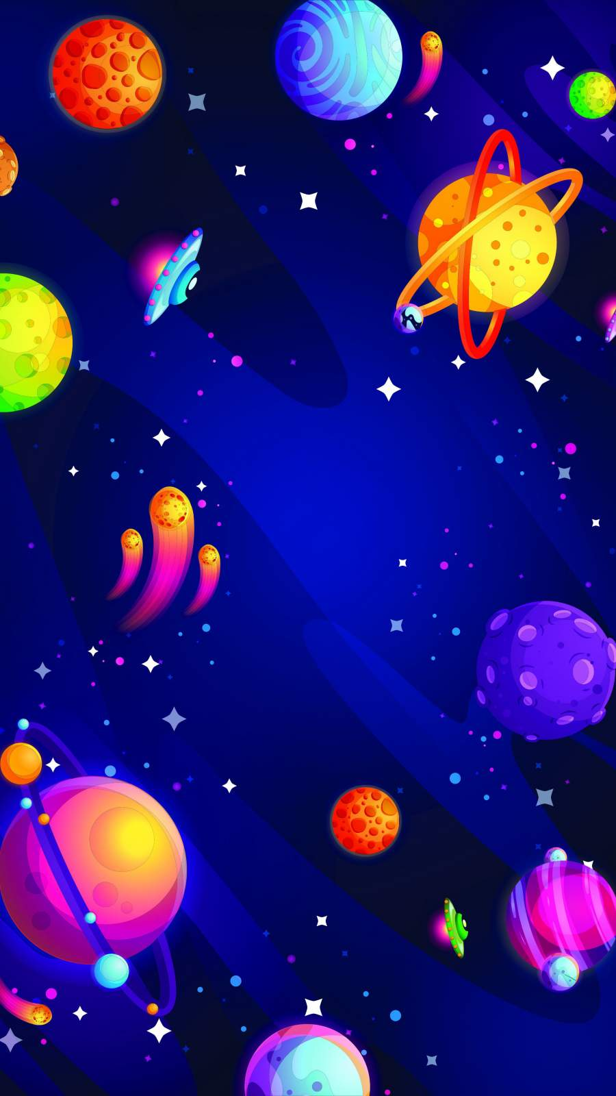 Universe Planets iPhone Wallpaper