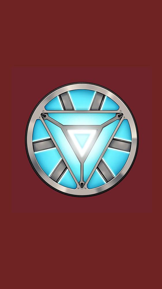 Vibranium Arc Reactor iPhone Wallpaper