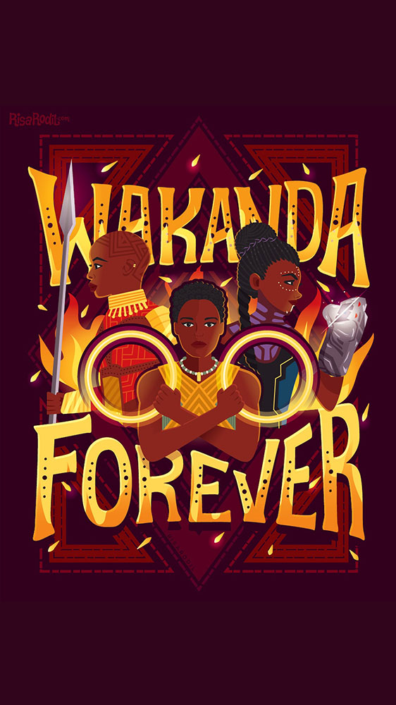 Wakanda Forever iPhone Wallpaper