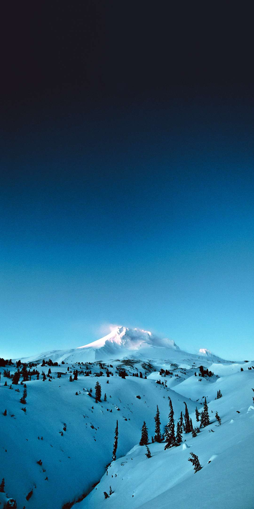 Winter Mountain iPhone Wallpaper