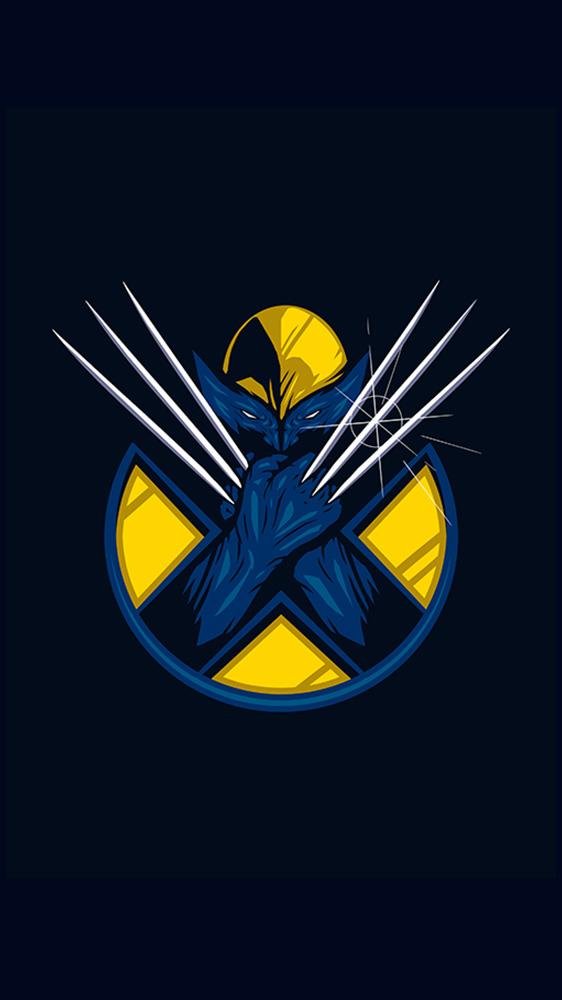 Wolverine Logo iPhone Wallpaper