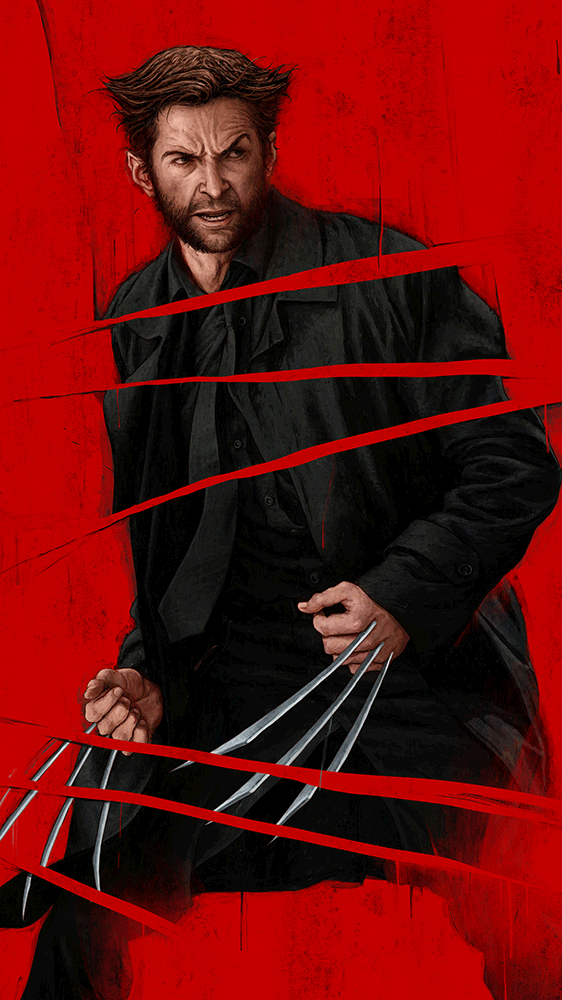 Wolverine Poster iPhone Wallpaper