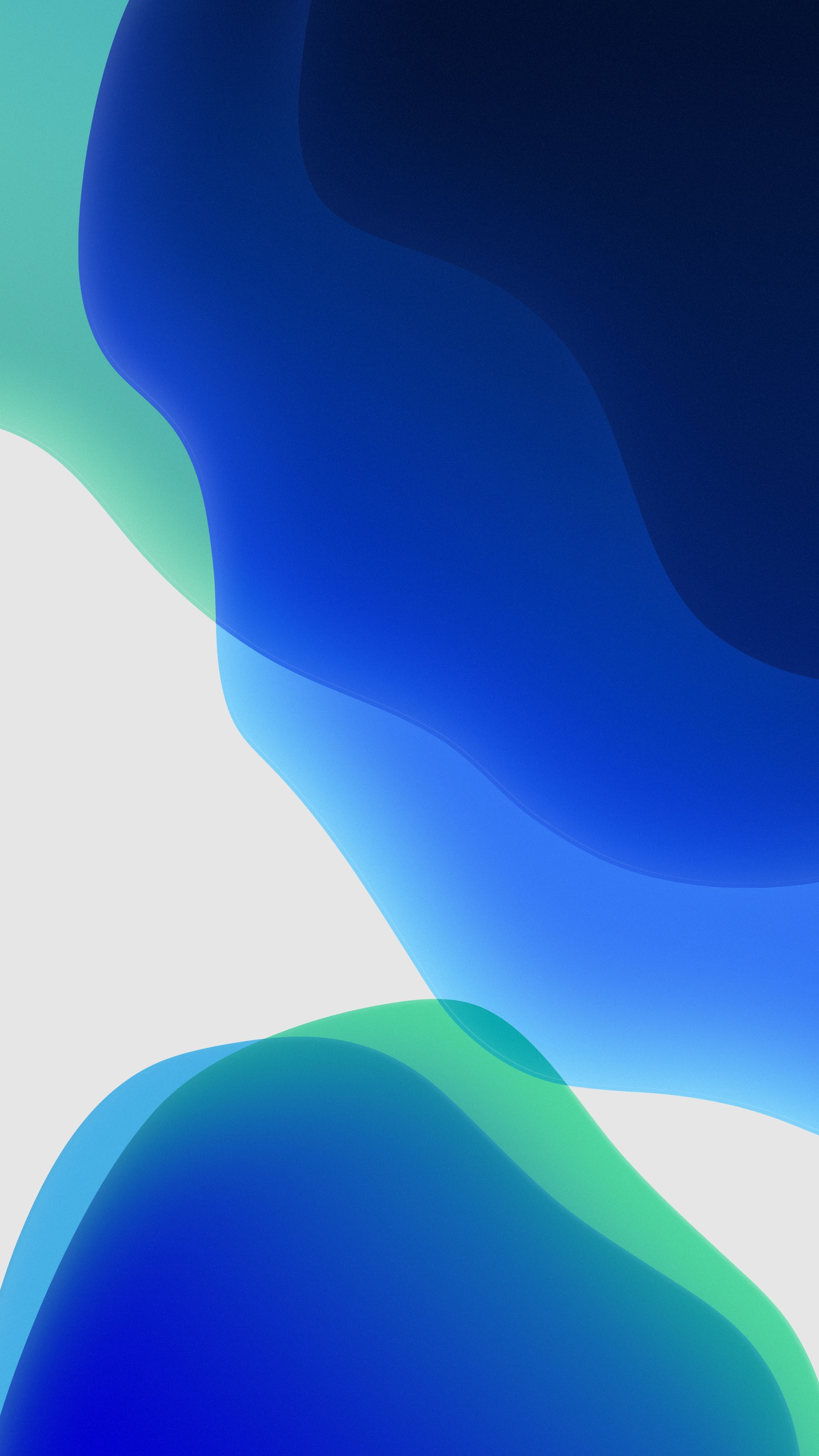 iOS 13 Blue White iPhone Wallpaper