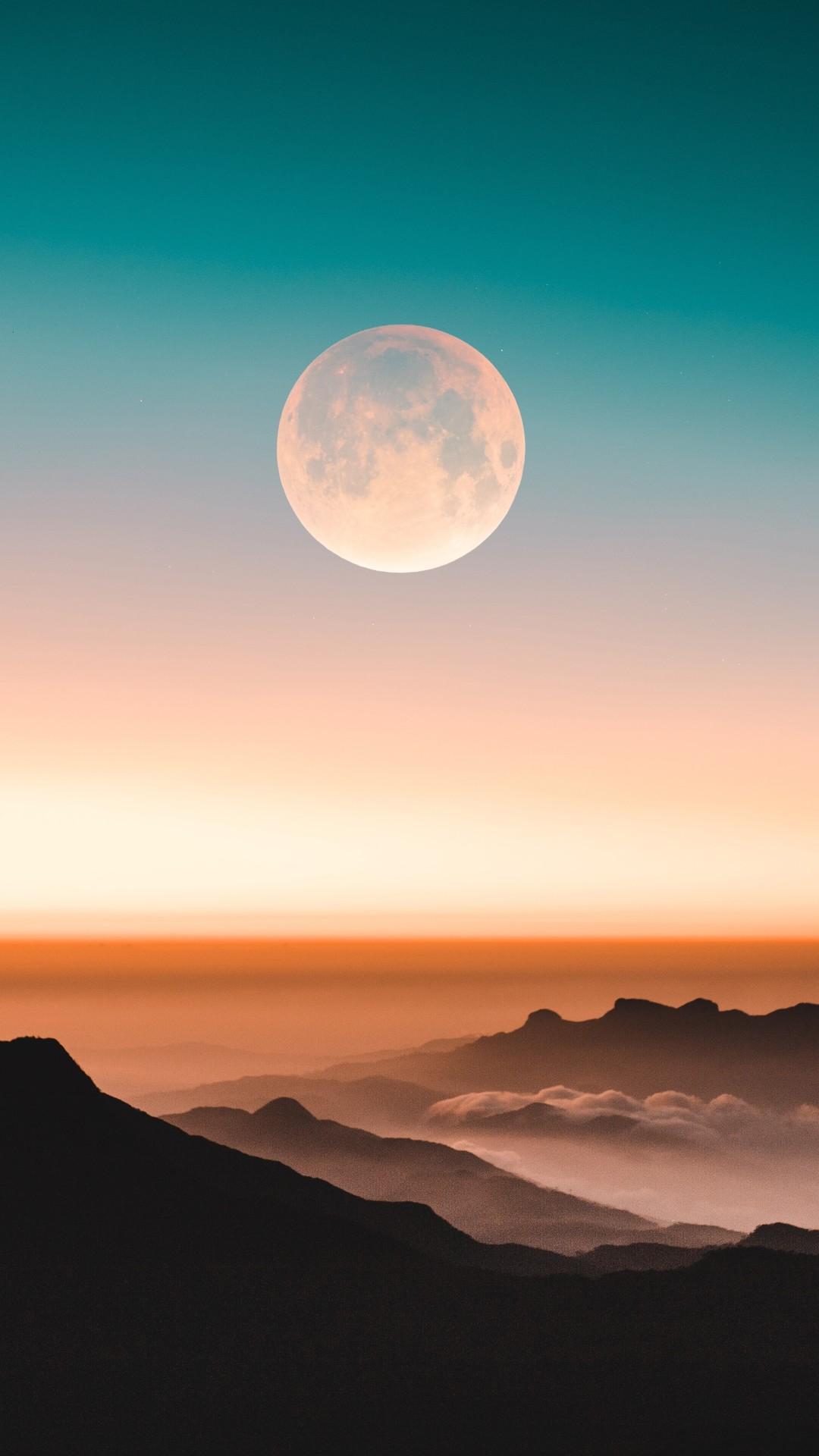 Adams Peak Mountains iPhone Wallpaper