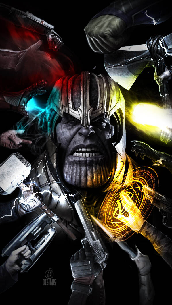 All Avengers vs Thanos iPhone Wallpaper