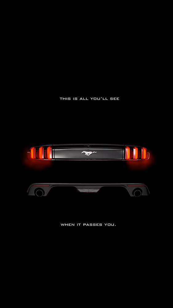 All Black Mustang iPhone Wallpaper