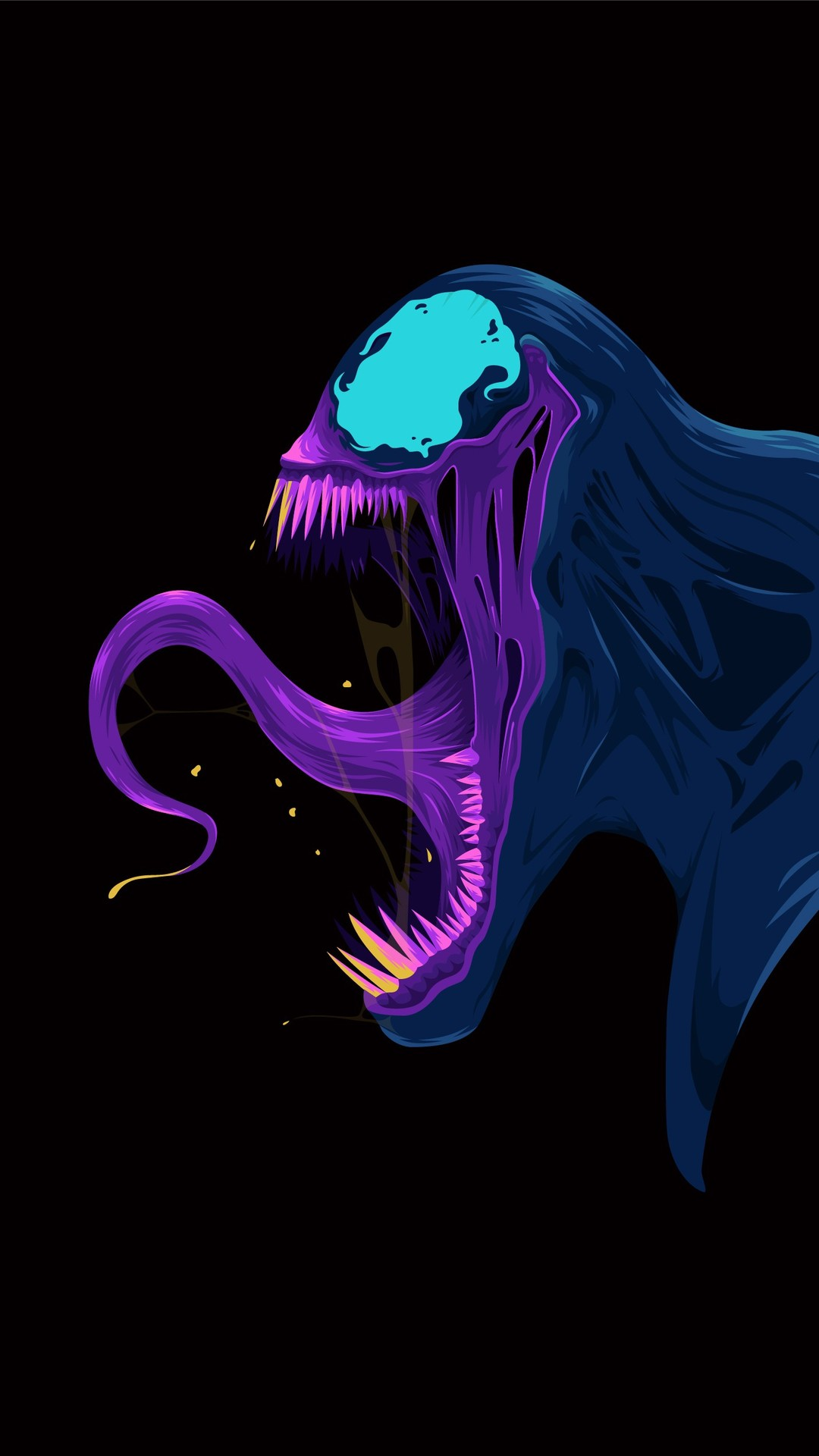 Amoled Venom iPhone Wallpaper