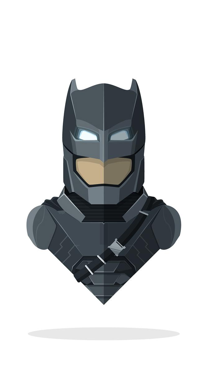 Armored Batman Minimal iPhone Wallpaper
