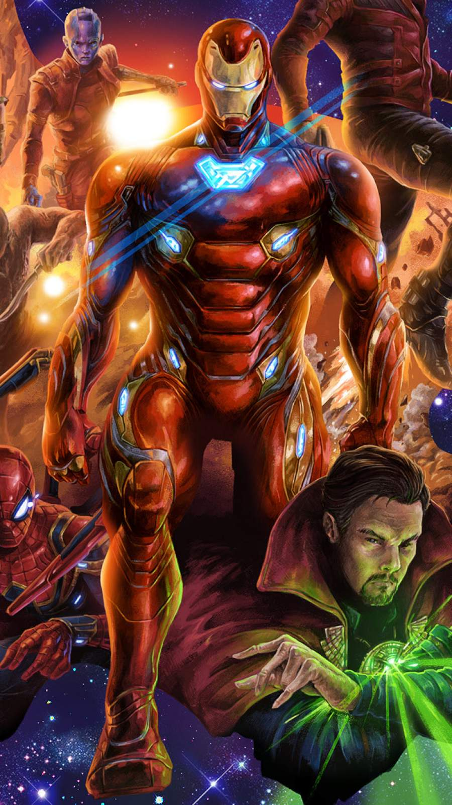 Avengers Art iPhone Wallpaper