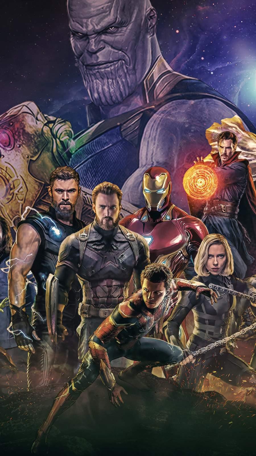 Avengers Artwork Poster iPhone Wallpaper