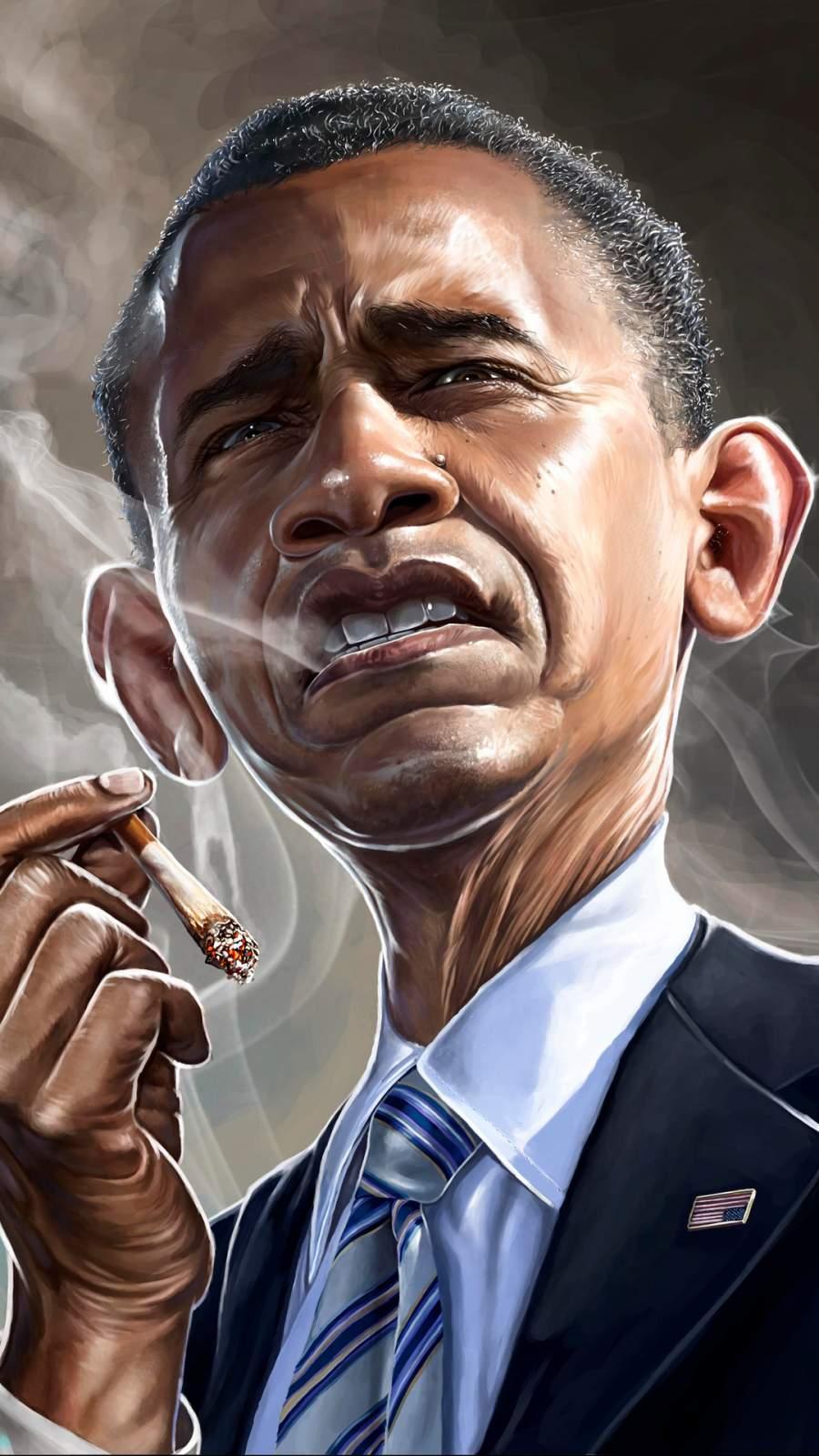 Barack Obama Smoking iPhone Wallpaper