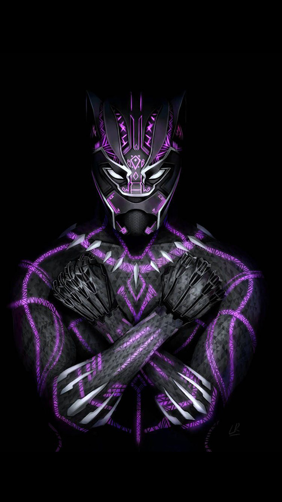 Black Panther New Suit iPhone Wallpaper