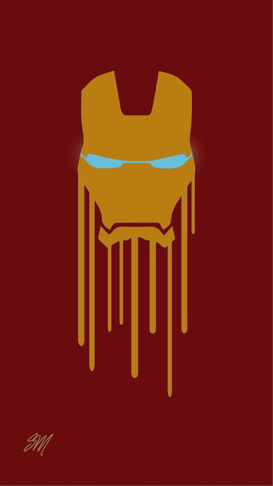 Bleeding Iron Man iPhone Wallpaper