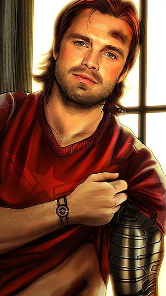 Bucky with Arm iPhone Wallpaper