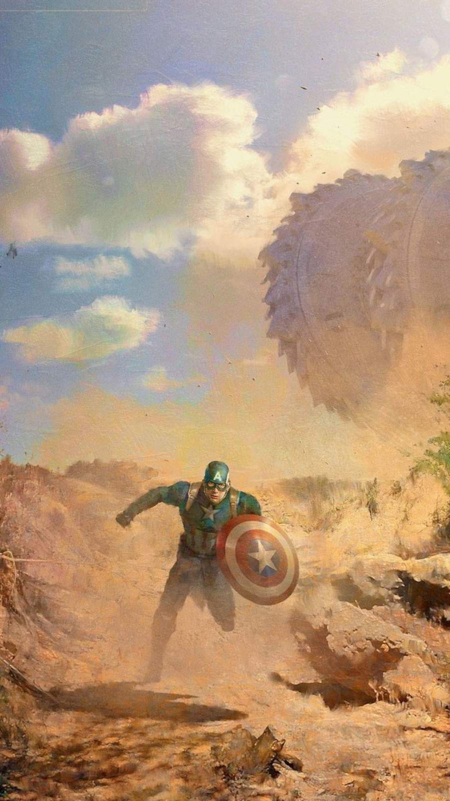 Captain America Concept Art iPhone Wallpaper