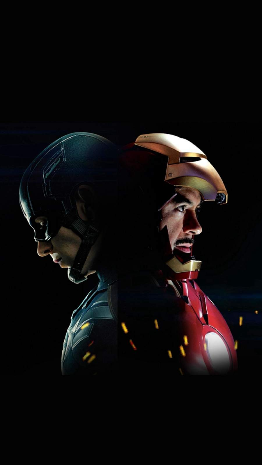 Captain America Ironman Hero Art iPhone Wallpaper