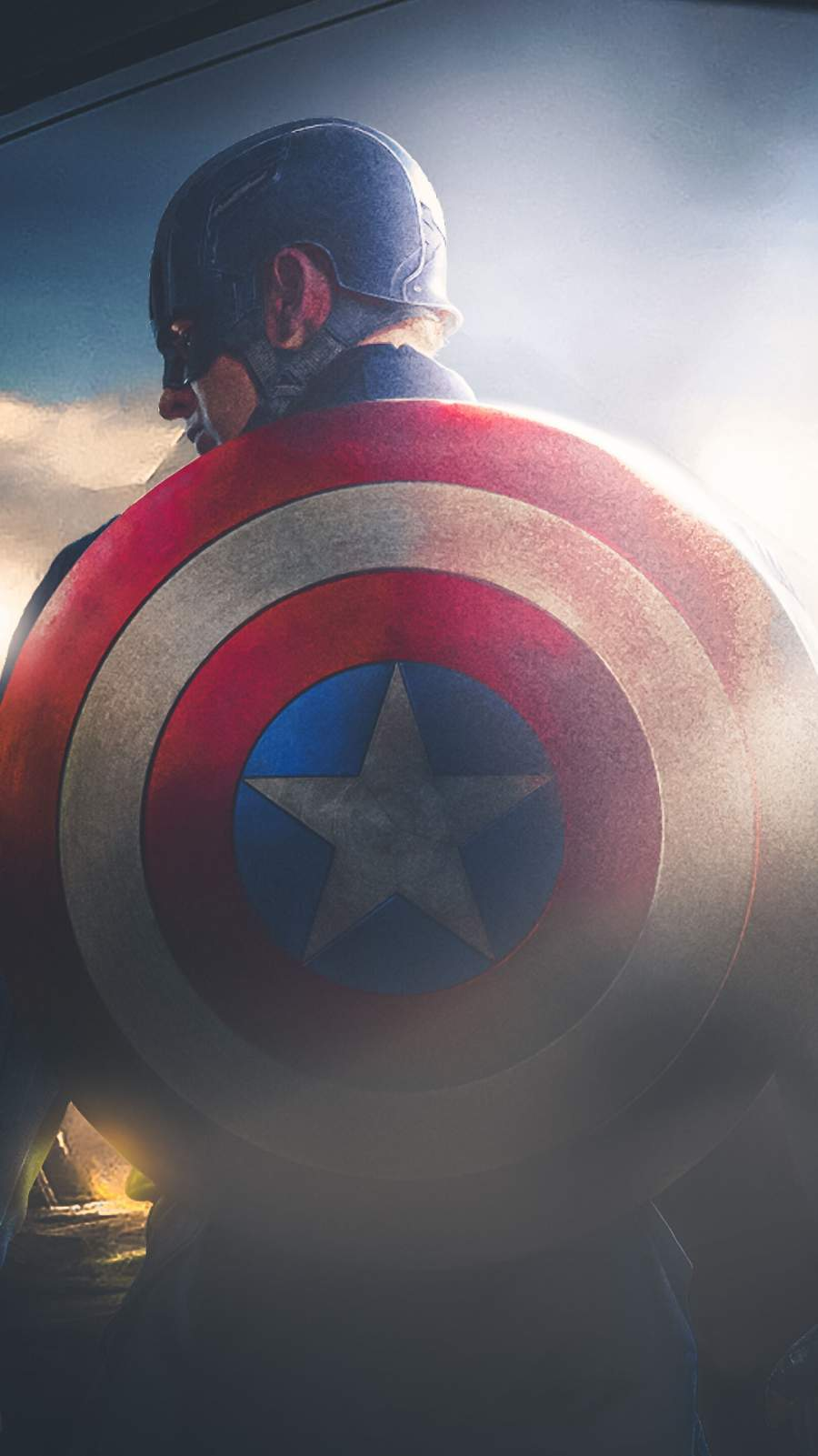 Captain America with his Shield iPhone Wallpaper
