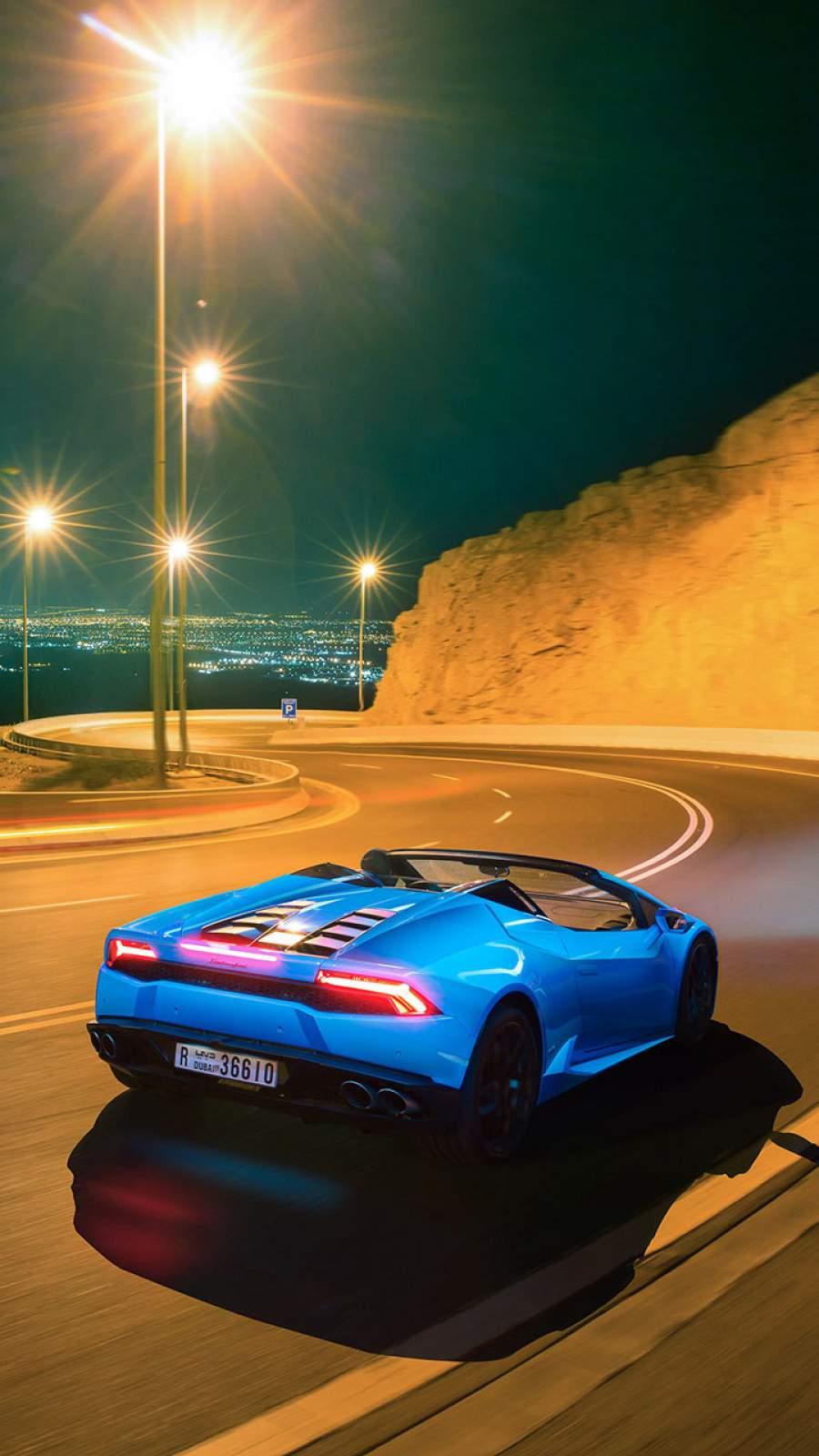 Convertible Lamborghini iPhone Wallpaper