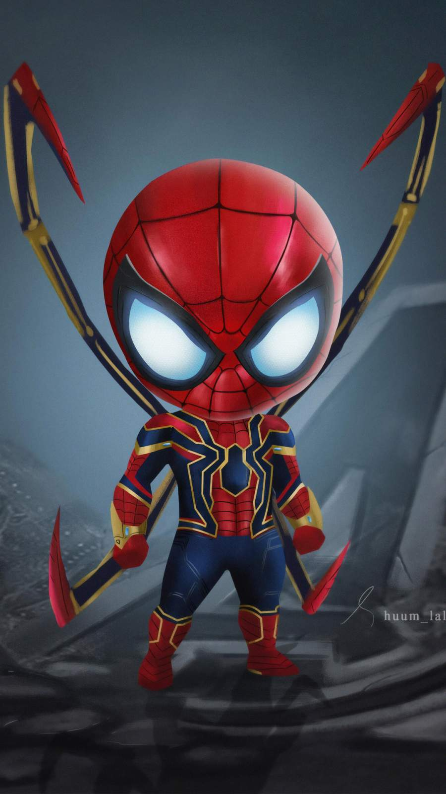 Cute Iron Spiderman iPhone Wallpaper
