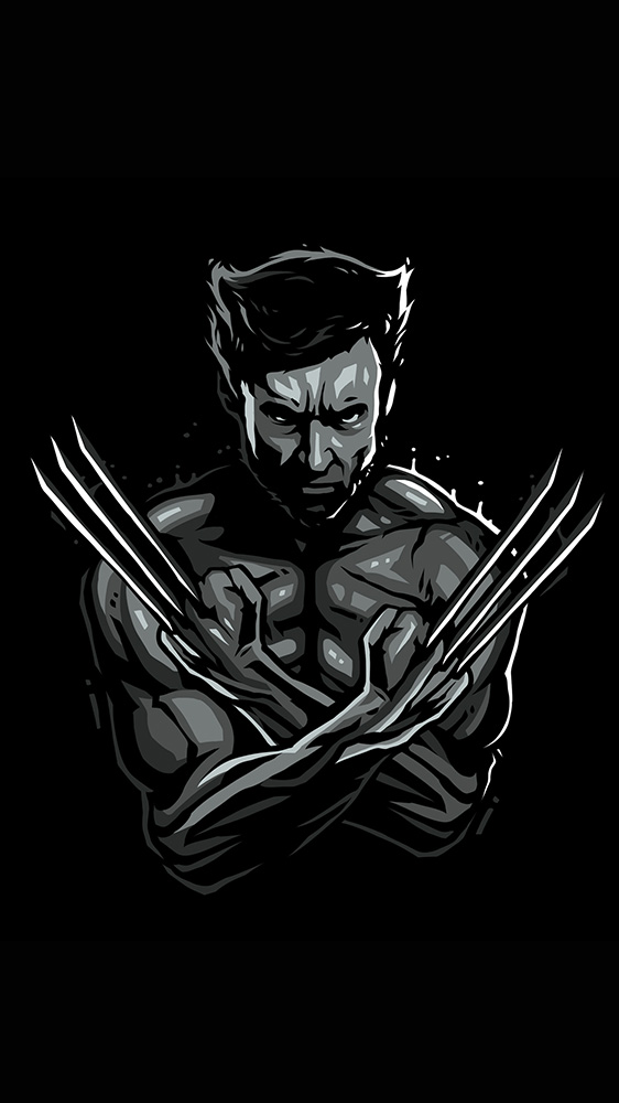 Dark Wolverine iPhone Wallpaper