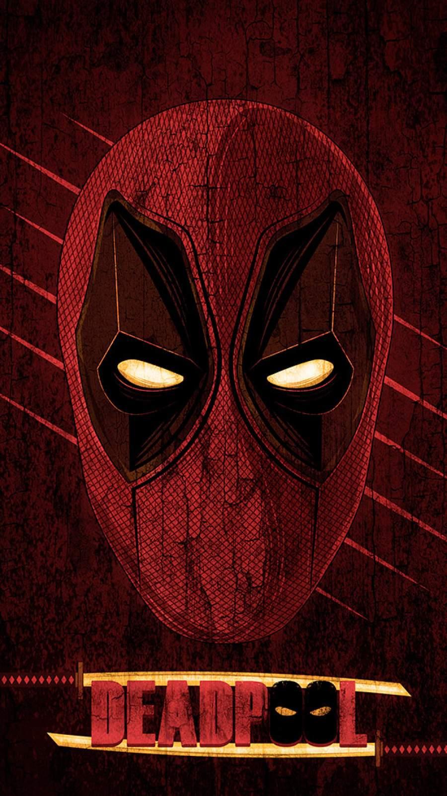 Deadpool Art Poster iPhone Wallpaper