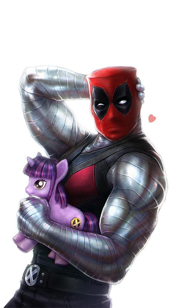 Deadpool Colossus iPhone Wallpaper