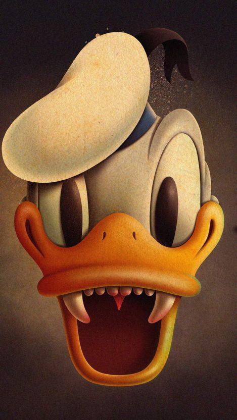 Donald Duck Halloween iPhone Wallpaper