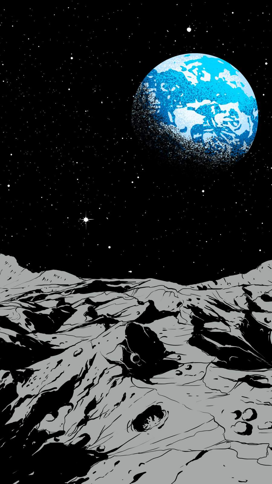 Earth From The Moon iPhone Wallpaper iPhone Wallpaper