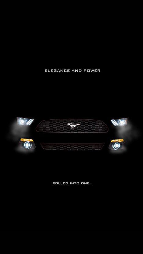 Ford Mustang Black Iphone Wallpaper Getintopik
