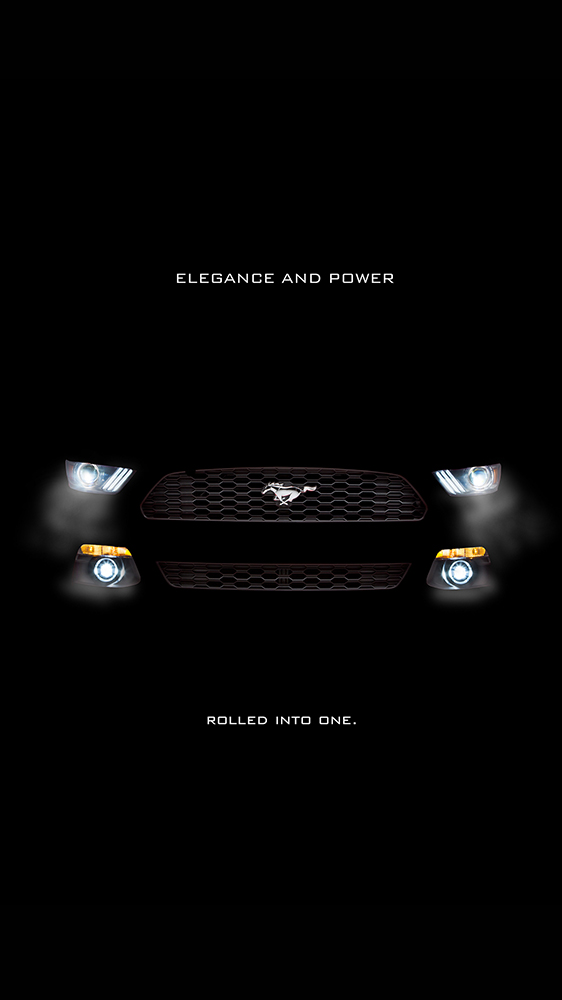Ford Mustang Black iPhone Wallpaper