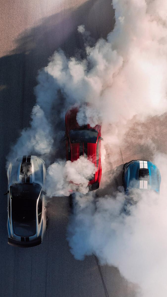 Ford Mustang Smoke iPhone Wallpaper