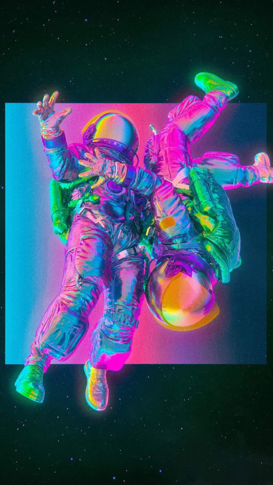 Freefall Astronaut iPhone Wallpaper