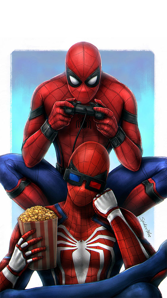 Gamer Spiderman iPhone Wallpaper