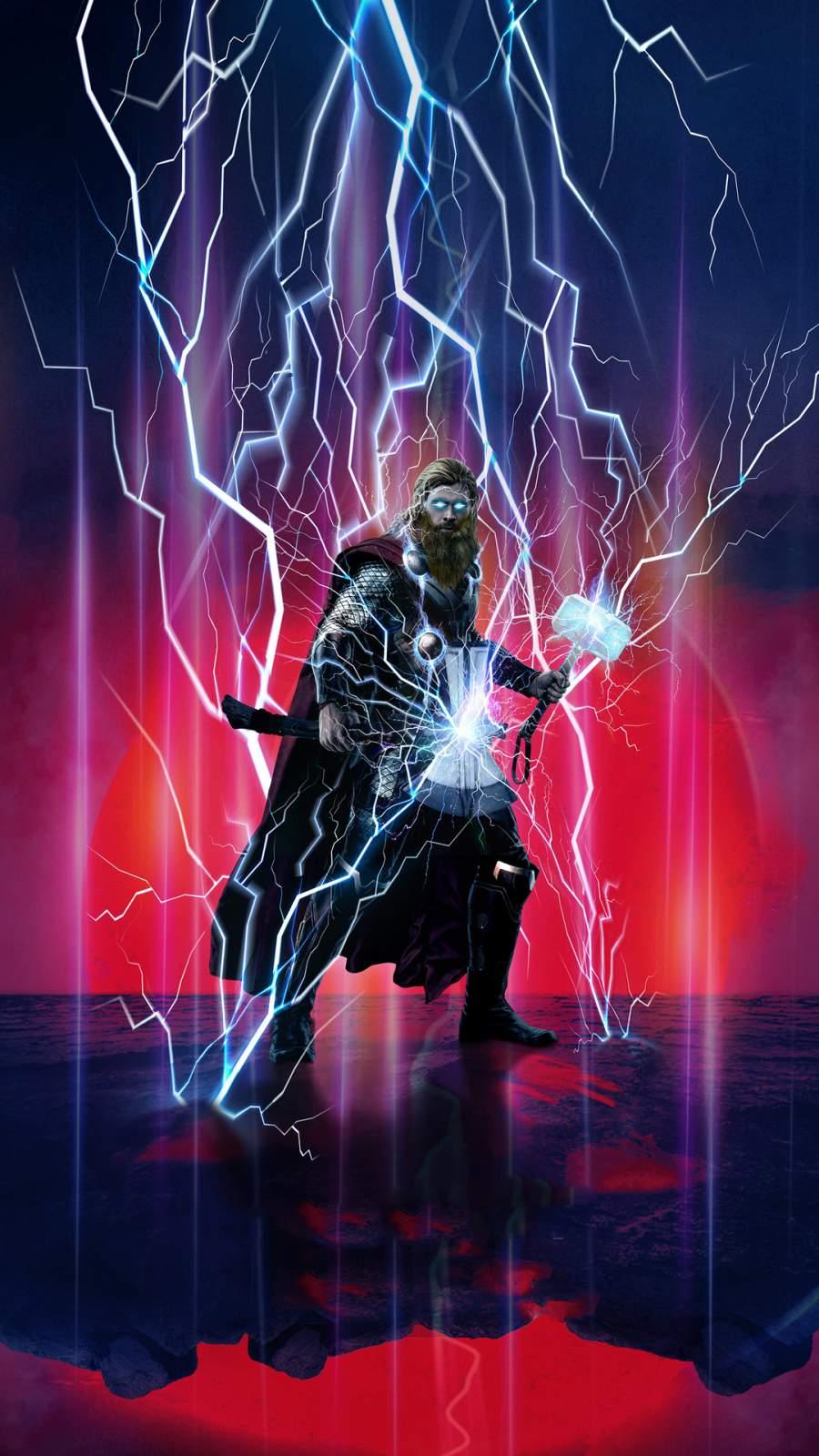 God of Thunder Thor iPhone Wallpaper