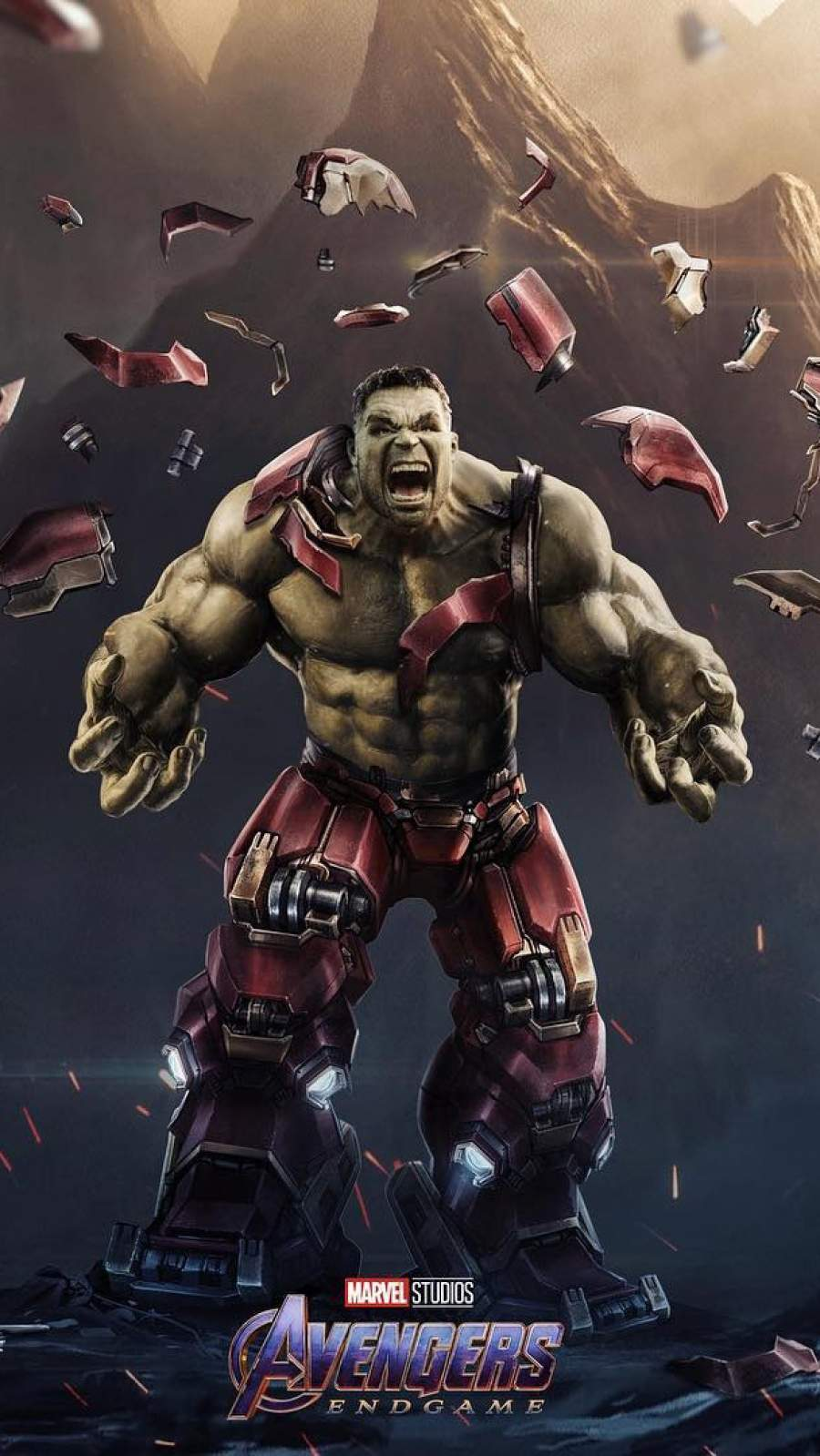 Hulk Destroyes Hulkbuster iPhone Wallpaper