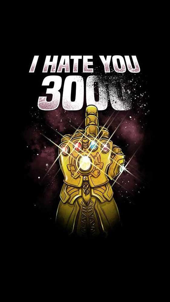 I Hate You 3000 iPhone Wallpaper