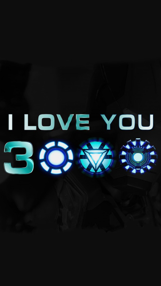 I Love You 3000 Iron Man iPhone Wallpaper