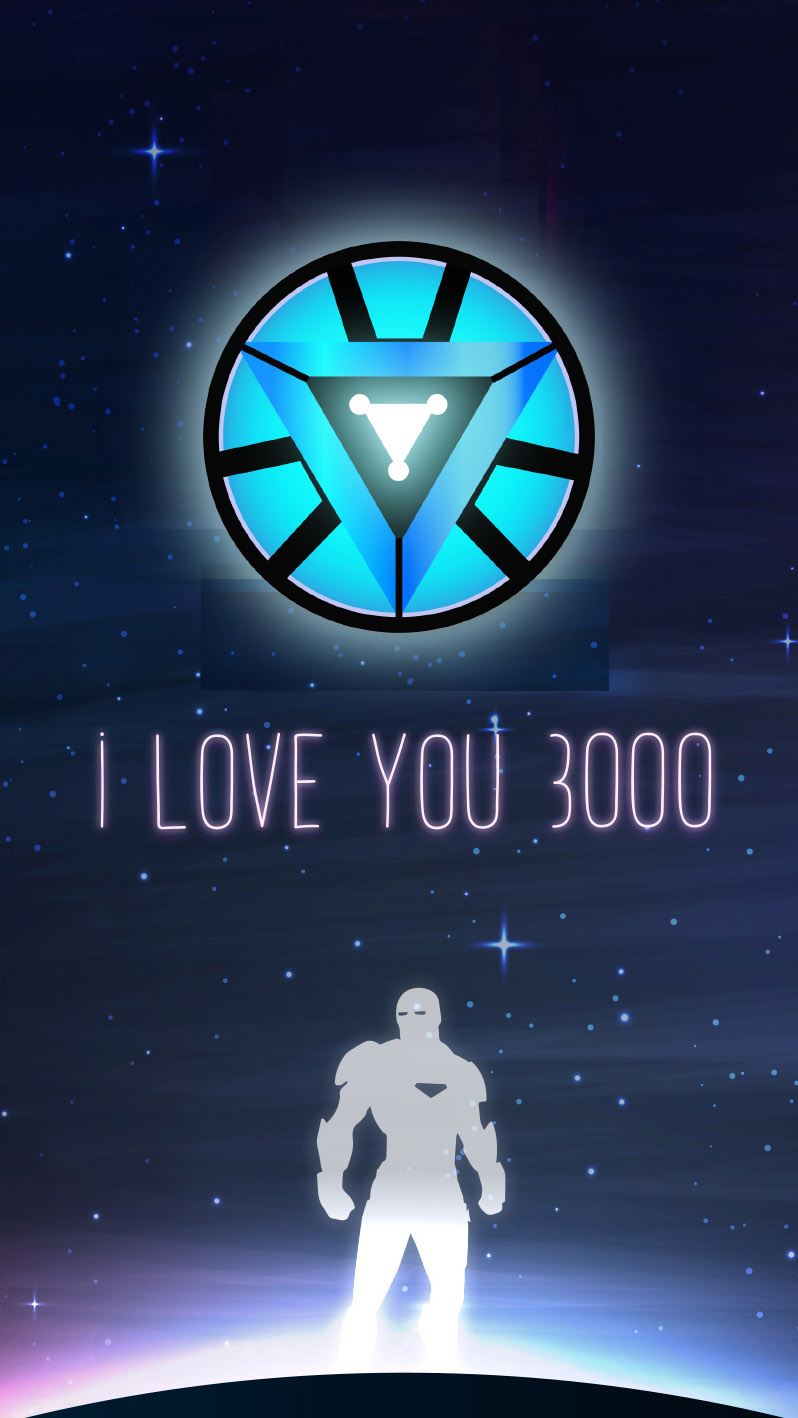 I Love You 3000 Ironman iPhone Wallpaper